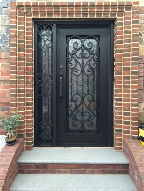 latest iron frontmain single safety door design