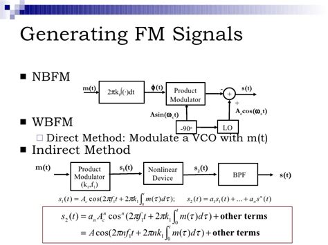 varactor diode method of fm generation fm generation direct method when 28 images lecture on am fm transmitter ppt fm generation
