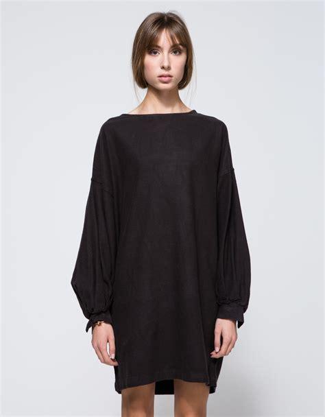 Balloon Sleeve Dress lyst black crane balloon sleeve dress in black