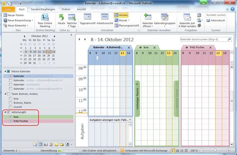 2 Calendars In Outlook 2010 Outlook Kalender Kalender 2017