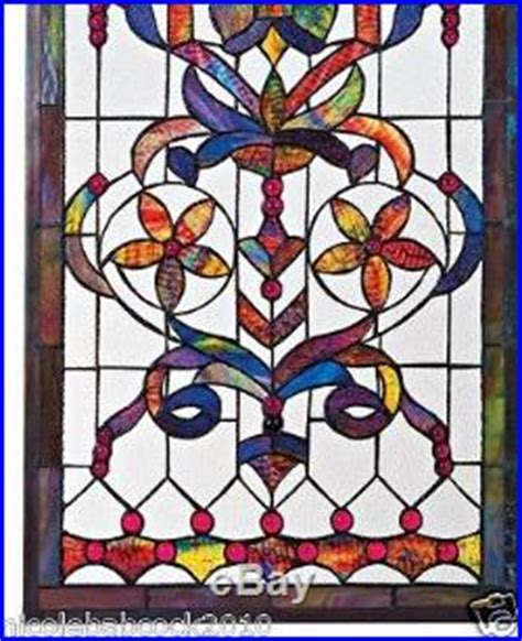 Style Stained Glass Ls by 4 Foot European Antique Style Manor Estate Stained Glass