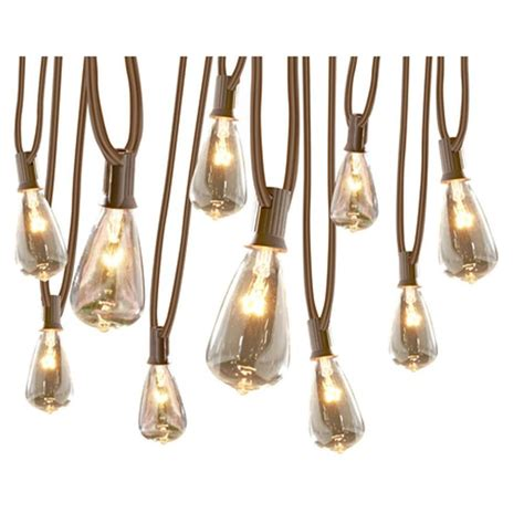 string lights bulbs shop allen roth 13 ft 10 light white in bulbs