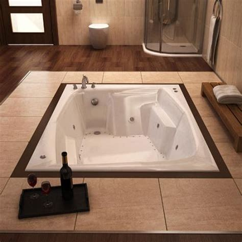 in floor bathtub a guide to in floor tubs for a dream spa style bathroom is introduced by homethangs