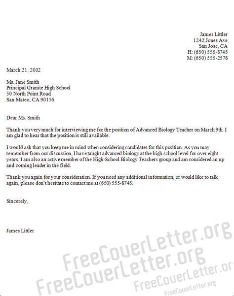 cover letter biology advanced biology cover letter sle