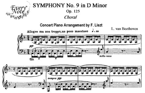 beethoven 9 sinfonia piano beethoven symphony no 9 op 125 quot choral quot piano