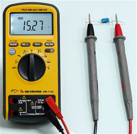 measure capacitor capacity am 1142 digital multimeter aktakom t m atlantic