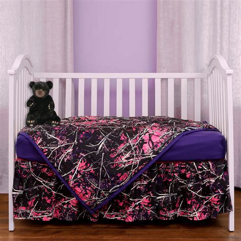 purple camo crib bedding muddy bedding muddy 3 crib set camo trading