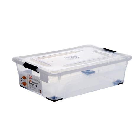 bathtub storage solutions ezy storage solutions 25l underbed storage tub bunnings