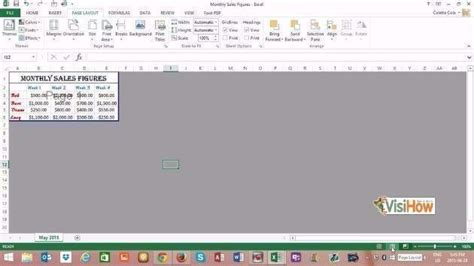 page layout in excel 2013 modify page layout in microsoft excel 2013 visihow