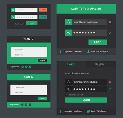 ui layout east flat ui kits and forms vertical infinity