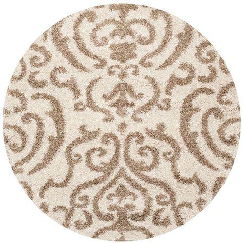 5 ft rugs safavieh florida shag beige 5 ft x 5 ft area