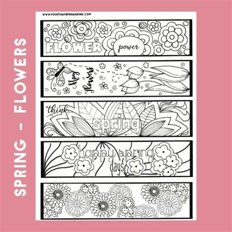 printable bookmarks spring 220 best bookmark coloring images on pinterest marque