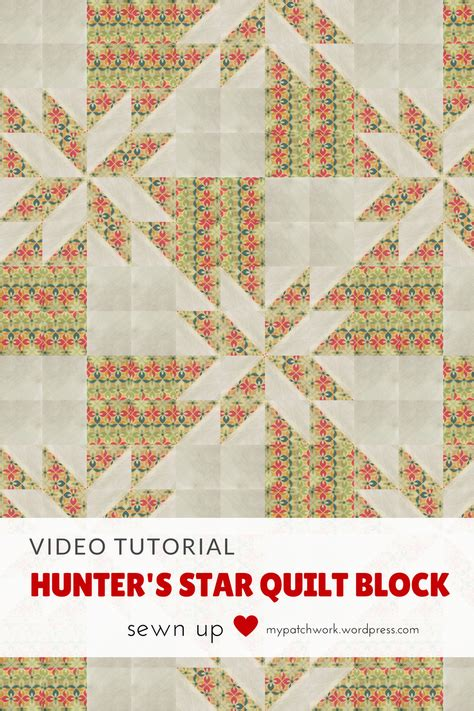 tutorial video star video tutorial hunter s star quilt block quick and easy