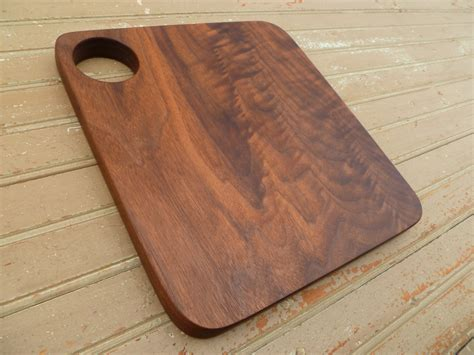 Handmade Wood Cutting Board - handmade walnut wood cutting board cheese serving by