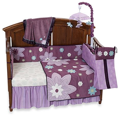 nojo crib bedding nojo 174 plum dandy 6 piece crib bedding and accessories