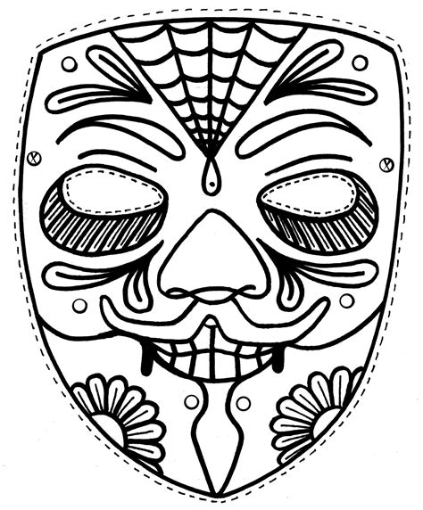Mask Coloring Page free printable mask coloring pages for