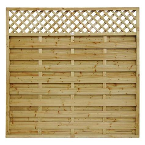 Horizontal Trellis Panels Horizontal Lattice Top Fence Panel Manningham Concrete