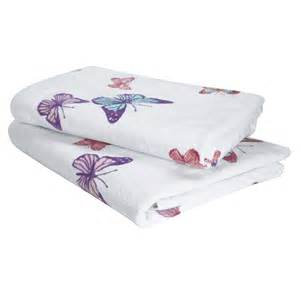 butterfly bath towels
