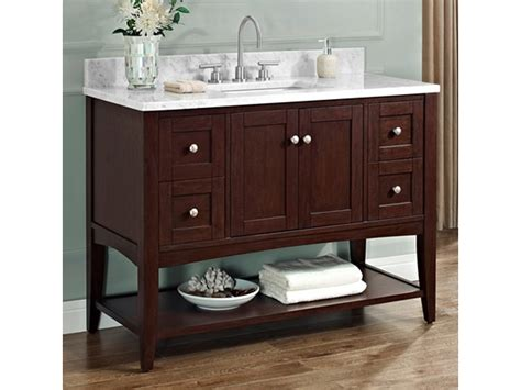 Bathroom Vanities Richmond Hill Fairmont Shaker Americana 48 Quot Open Shelf Vanity Bathroom Vanity For Toronto Markham