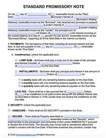 promissory note template florida doc 400518 promissory agreement template promissory