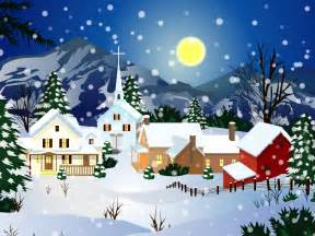Christmas snow town download free snow christmas wallpapers download