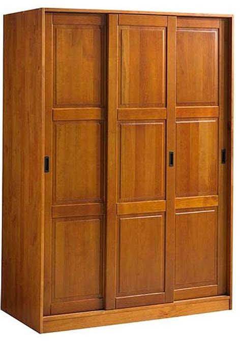 Armoire Wardrobes by 3 Slide Wardrobe Honey Pine Transitional Armoires And
