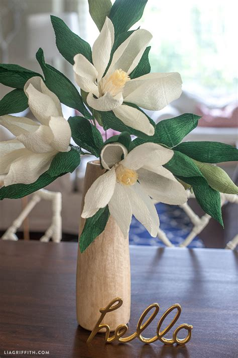 magnolia flower template diy paper magnolia flower magnolia flower diy paper and
