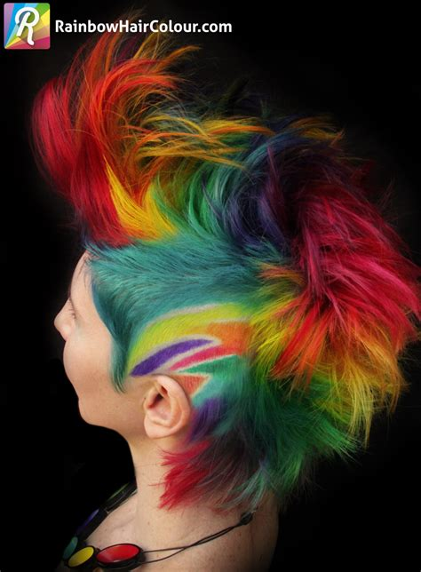 mohawk designs with color the trade rainbow mohawk for rainbow katwise inspired