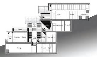 Building A House On A Slope by The Architect 187 Split Level House Built On Steep Slope