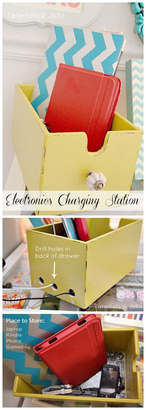 diy electronic charging station best 25 charging station organizer ideas on pinterest