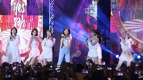 twice guam 181201 twice quot yes or yes quot fancam guam 괌 k pop concert 트와이스