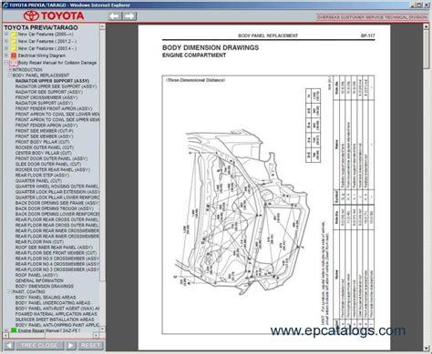 toyota previa tarago repair manuals download wiring diagram electronic parts catalog epc toyota previa tarago 2000 repair manual download
