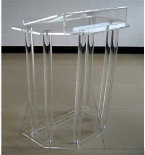 clear acrylic floor l speak rostrum modern elegant floor standing acrylic dais