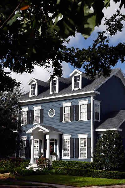 new colonial blue exterior inspiration for front