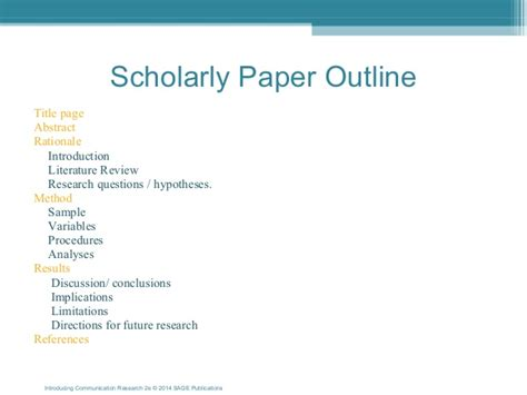 writing a scholarly paper 17352 14ppt