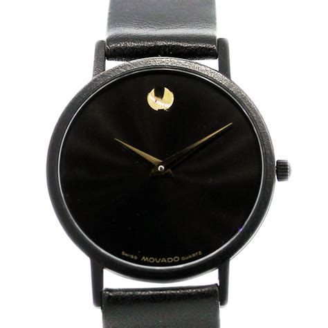 Watches Black movado museum on black leather