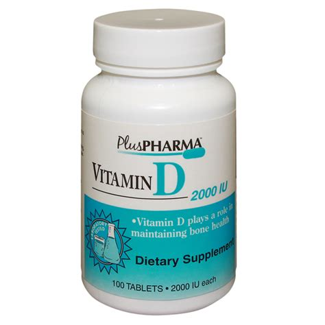 Vitamin Generik vitamin d 2000 unit tab 100 by plus pharma gemini