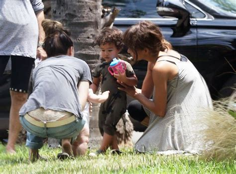 No Wedding Bells For Halle by Halle Berry Steps Out In L A Not Wearing Makeup Or