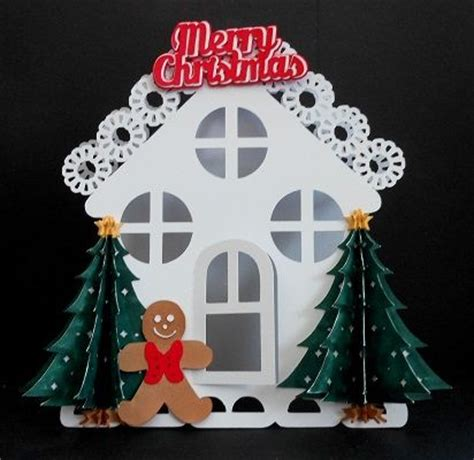 Gingerbread Card Template by Craftrobo Cameo Template Gingerbread Card