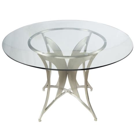 Dining Table Tempered Glass Modern Dining Table In Stainless Steel With Clear Tempered Glass