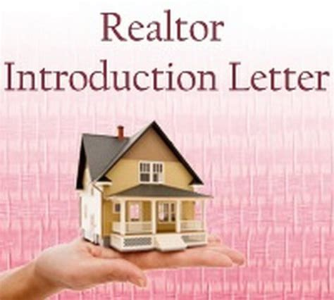 Real Estate Introduction Letter Exle introduction letter