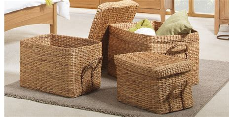 decorative boxes at dollar general set of 3 extra large wicker storage boxes storage baskets