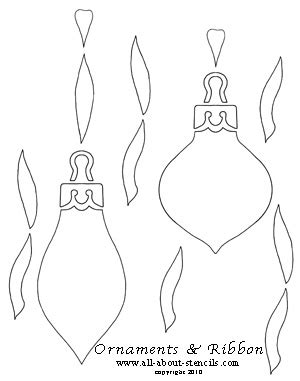 printable ornament stencils use these christmas craft patterns and stencils for all of
