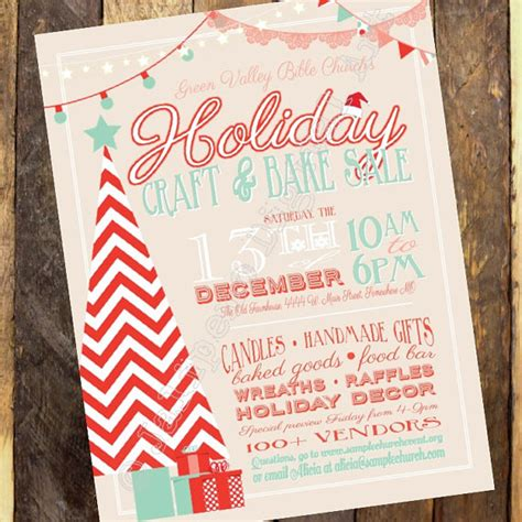 holiday craft boutique craft fair invitation vendor