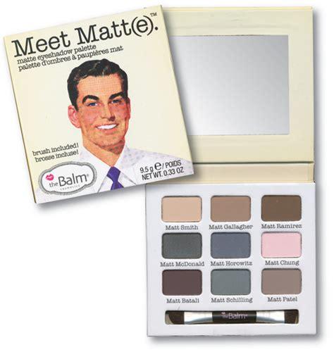 The Balm Meet Matte Makeup thebalm meet matt e eyeshadow palette