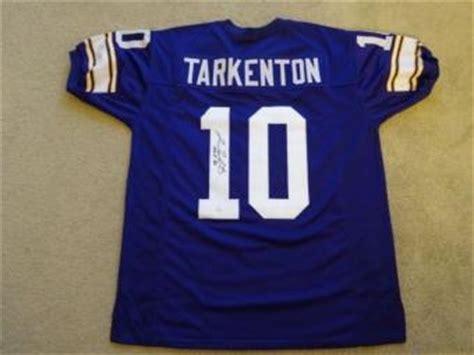 throwback blue fran tarkenton 10 jersey p 228 fran tarkenton signed jersey autographed authentic nfl