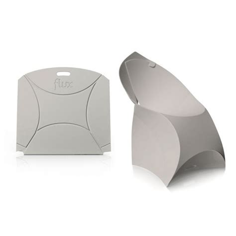Folding Paper Chair - origami flux chair folds completely flat getdatgadget