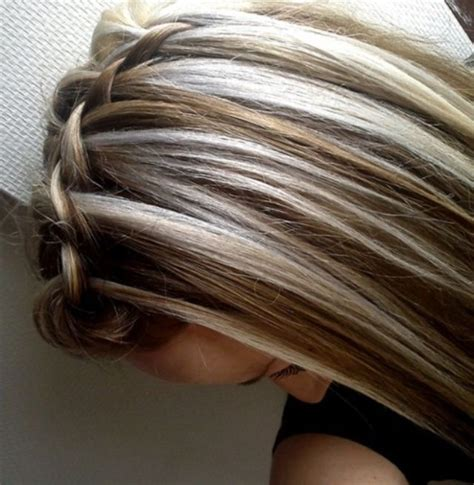 chunky blonde highlights for grey hair blonde chunky highlights for brunettes going gray blonde