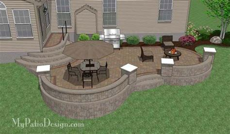 Patio Ideas For Sloped Yard Raised Patio For A Sloping Backyard Home Ideas