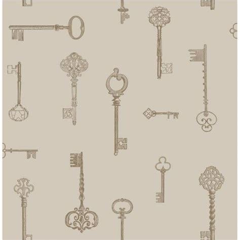 gold key wallpaper buy fine decor keys wallpaper taupe gold cream